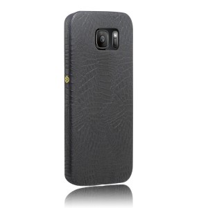 Чехол накладка текстурная отделка Кожа для Samsung Galaxy S7  Черный