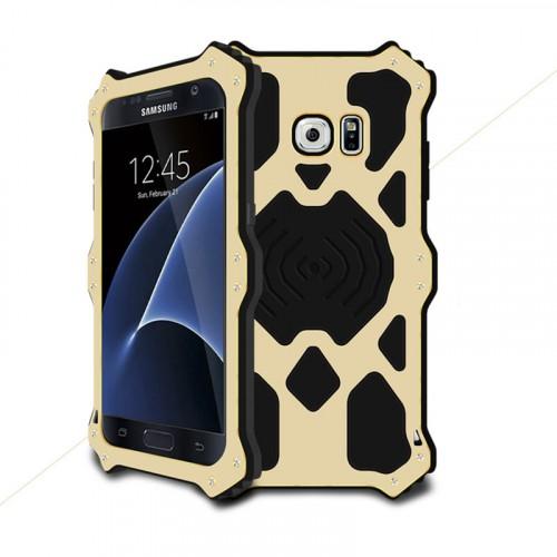 Эксклюзивный многомодульный ультрапротекторный пылевлагозащищенный ударостойкий нескользящий чехол алюминиево-цинковый сплав/силиконовый полимер для Samsung Galaxy S7