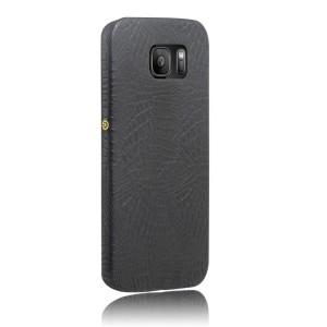 Чехол накладка текстурная отделка Кожа для Samsung Galaxy S7 Edge  Черный