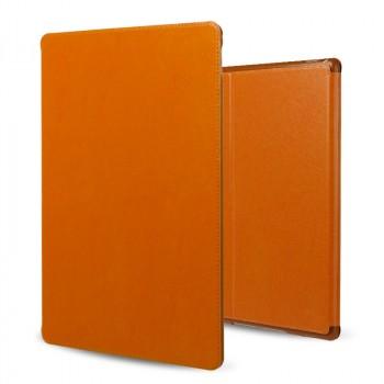 Кожаный винтажный чехол книжка подставка на непрозрачной силиконовой основе для Ipad Pro