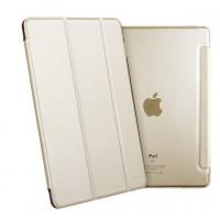 Сегментарный чехол книжка подставка на полупрозрачной силиконовой основе для Ipad Pro Бежевый