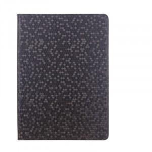 Чехол книжка подставка текстура Узоры с рамочной защитой экрана для ASUS Transformer Book T100HA Черный