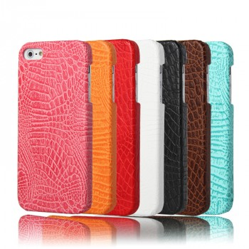 Чехол накладка текстурная отделка Кожа для Iphone 5/5s/SE