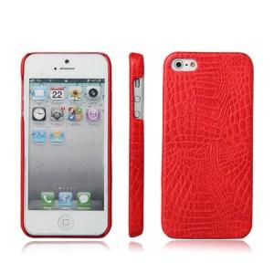 Чехол накладка текстурная отделка Кожа для Iphone 5/5s/SE Красный