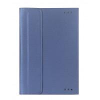 Чехол книжка подставка с рамочной защитой экрана и магнитной защелкой для ASUS Transformer Book T100HA  Синий