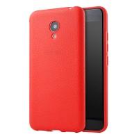 Силиконовый матовый непрозрачный чехол для Meizu M3s Mini  Красный