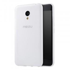 Силиконовый матовый непрозрачный чехол для Meizu M3s Mini  Белый