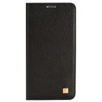 Кожаный чехол горизонтальная книжка на пластиковой основе с отсеком для карт для Meizu MX6 Черный