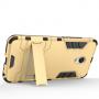 Противоударный двухкомпонентный силиконовый матовый непрозрачный чехол с поликарбонатными вставками экстрим защиты с встроенной ножкой-подставкой для Meizu MX6