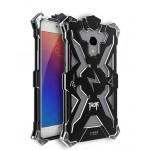 Цельнометаллический противоударный чехол из авиационного алюминия на винтах с мягкой внутренней защитной прослойкой для гаджета с прямым доступом к разъемам для Meizu MX6