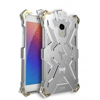 Цельнометаллический противоударный чехол из авиационного алюминия на винтах с мягкой внутренней защитной прослойкой для гаджета с прямым доступом к разъемам для Meizu MX6  Белый