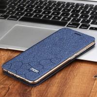 Чехол горизонтальная книжка подставка текстура Соты на силиконовой основе для Meizu MX6 Синий