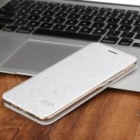 Чехол горизонтальная книжка подставка текстура Соты на силиконовой основе для Meizu MX6 Белый