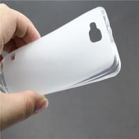 Силиконовый матовый полупрозрачный чехол для ZTE Blade AF3 Белый