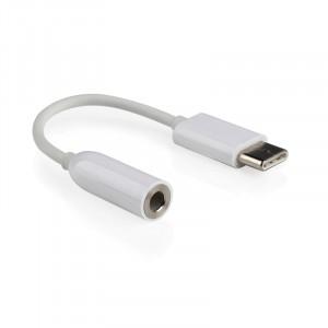 Аудиокабель AUX-USB 3.1 type C 0.1м для подключения аналоговых 3.5мм наушников
