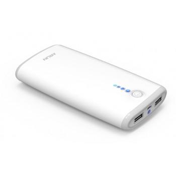 Портативное зарядное устройство 20000 mAh с 2 разъемами (1А, 2.1А), LED-фонариком и индикацией заряда
