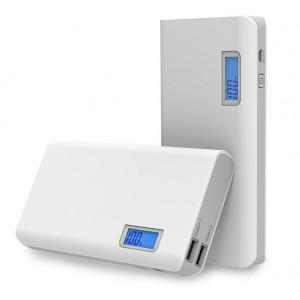Портативное зарядное устройство 20000 mAh с 2 разъемами (1А, 2.1А) и LCD-экраном
