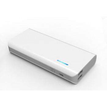 Портативное зарядное устройство 13000 mAh с 2 разъемами (1А, 2.1А), LED-фонариком и индикацией заряда