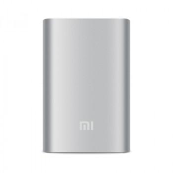 Оригинальное портативное зарядное устройство Xiaomi в матовом металлическом корпусе 10000 мАч Белый