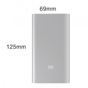 Оригинальное ультратонкое 9.9 мм портативное зарядное устройство Xiaomi в матовом металлическом корпусе 5000 мАч Серый
