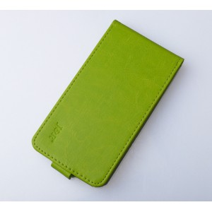 Глянцевый чехол вертикальная книжка на силиконовой основе на магнитной защелке для ZTE Blade V7 Lite  Зеленый