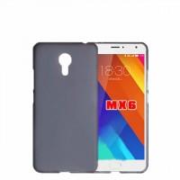 Силиконовый матовый полупрозрачный чехол для Meizu MX6  Черный