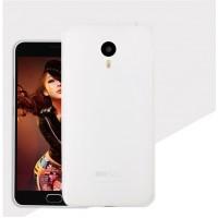 Силиконовый матовый полупрозрачный чехол для Meizu MX6  Белый