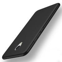 Пластиковый непрозрачный матовый чехол с улучшенной защитой элементов корпуса для Meizu MX6  Черный