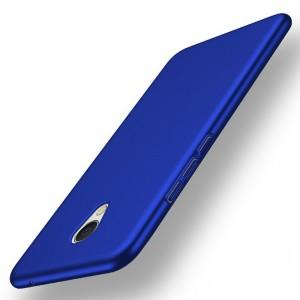 Пластиковый непрозрачный матовый чехол с улучшенной защитой элементов корпуса для Meizu MX6  Синий