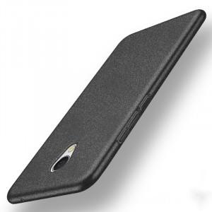 Пластиковый непрозрачный матовый чехол с повышенной шероховатостью и допзащитой торцов для Meizu MX6