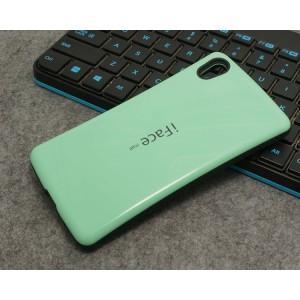 Силиконовый глянцевый непрозрачный чехол с нескользящими гранями для Sony Xperia Z5 Premium Зеленый