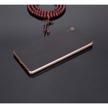 Экстратонкая клеевая кожаная накладка для Sony Xperia XA