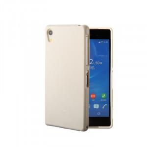 Силиконовый глянцевый непрозрачный чехол для Sony Xperia XA  Белый