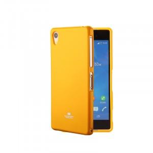 Силиконовый глянцевый непрозрачный чехол для Sony Xperia XA  Желтый