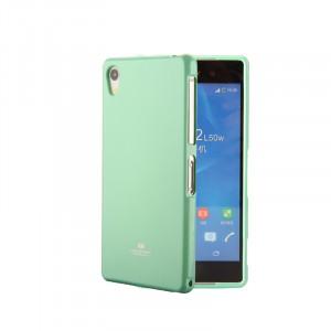 Силиконовый глянцевый непрозрачный чехол для Sony Xperia XA  Зеленый