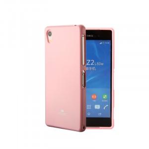 Силиконовый глянцевый непрозрачный чехол для Sony Xperia XA  Розовый