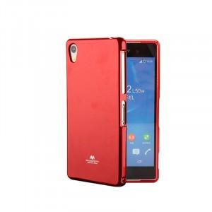 Силиконовый глянцевый непрозрачный чехол для Sony Xperia XA  Красный