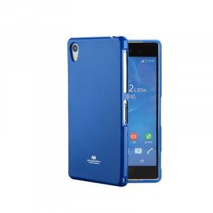 Силиконовый глянцевый непрозрачный чехол для Sony Xperia XA  Синий
