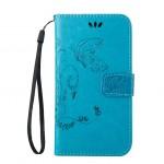 Чехол портмоне подставка текстура Узоры на силиконовой основе на магнитной защелке для HTC Desire 626/628