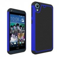 Противоударный двухкомпонентный силиконовый матовый непрозрачный чехол с поликарбонатными вставками экстрим защиты для HTC Desire 626/628 Синий