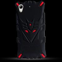 Силиконовый матовый непрозрачный дизайнерский фигурный чехол для HTC Desire 626/628 Красный