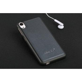 Силиконовый матовый непрозрачный чехол с текстурным покрытием Кожа для HTC Desire 626/628