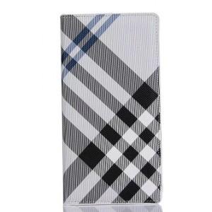 Чехол портмоне подставка текстура Линии на пластиковой основе на магнитной защелке для Sony Xperia X