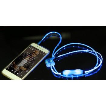 Наушники вкладыши с LED-подсветкой 1м