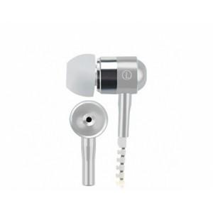 Наушники вкладыши серия Zipper с функцией гарнитуры и замком 1.2м 20Гц-20КГц Белый