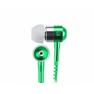 Наушники вкладыши серия Zipper с функцией гарнитуры и замком 1.2м 20Гц-20КГц Зеленый