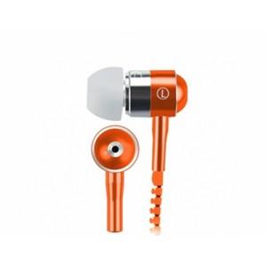 Наушники вкладыши серия Zipper с функцией гарнитуры и замком 1.2м 20Гц-20КГц Оранжевый