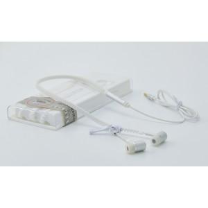 Флуоресцентные наушники вкладыши серия Zipper с функцией гарнитуры и замком 1.2м 20Гц-20КГц Белый