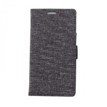 Чехол горизонтальная книжка подставка на силиконовой основе с тканевым покрытием на магнитной защелке для Huawei Honor 8