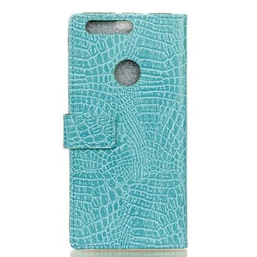 Чехол портмоне подставка текстура Крокодил на силиконовой основе на магнитной защелке для Huawei Honor 8